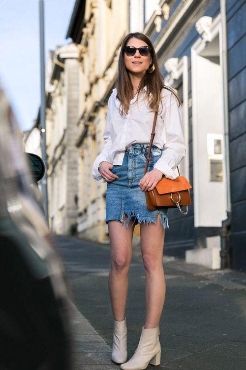 Девушки в джинсовых мини-юбках — 6