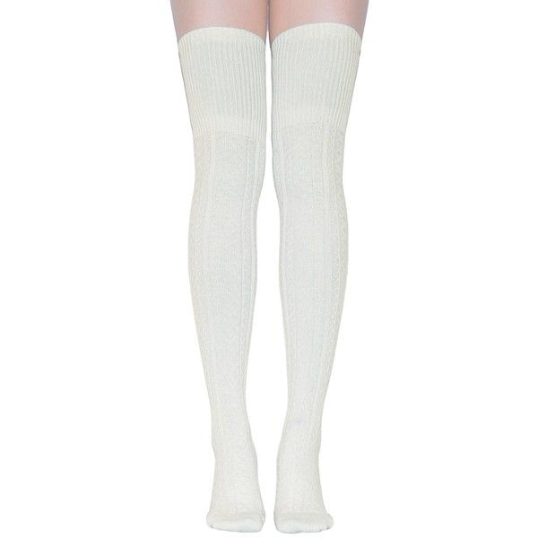 TooPhoto Over Knee Socks Thigh High Stockings Tube Women Knee High... (204.155 VND) ❤ liked on Polyvore featuring intimates, hosiery, socks, christmas socks, over the knee tube socks, over-the-knee socks, white thigh-high socks and over knee socks