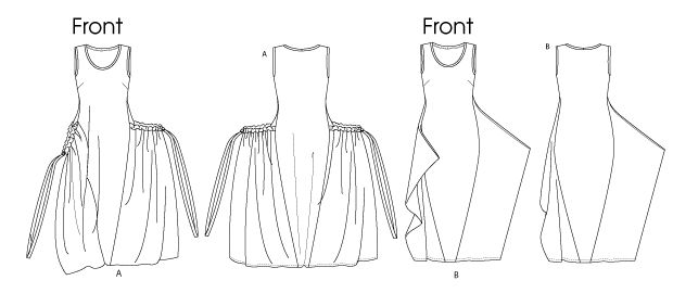 "Vogue Pattern 1297. Could be used to make panier-type ""robe de style"" dresses popular in the early 1900s."