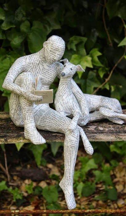 Atelier Fazendo Arte DMC: O MUNDO CANINO DE LORRAINE CORRIGAN – ARTE EM PAPEL MACHÊ.