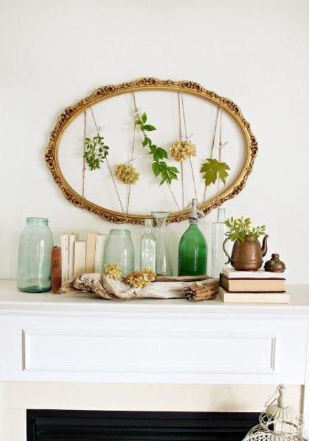 42 Awesome Summer Mantel Décor Ideas | DigsDigs