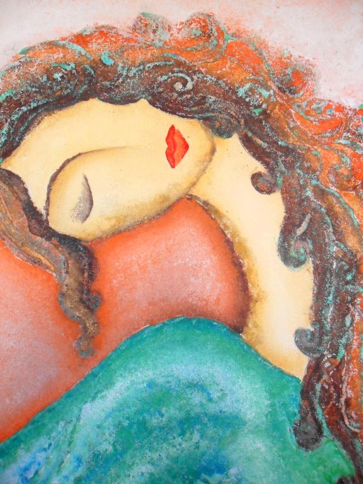 Dreaming Woman By Ruaa Al Bazirgan