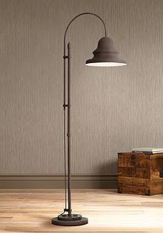 Industrial Gear Downbridge Dark Rust Floor Lamp
