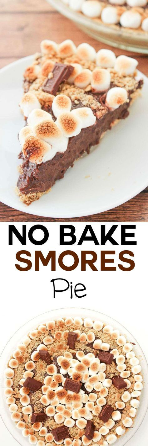 No Bake Smores Pie: Craving smores without the sticky mess? This no bake pie will give you all the rich chocolate and toasty marshmallow flavor you crave, no campfire required!