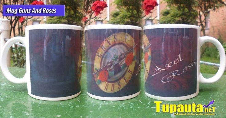 Mug Musical: Guns N' Roses Valor: $10.000 Contacto: Web: www.tupauta.net Email: tupautacolombia@hotmail.com Contacto Directo en Bogotá: (1) 722 2992 Movil: 319 293 8386 - 319 333 7534 Av. Calle 30 # 2-86 Este. Ofi: 202 San Mateo, Soacha