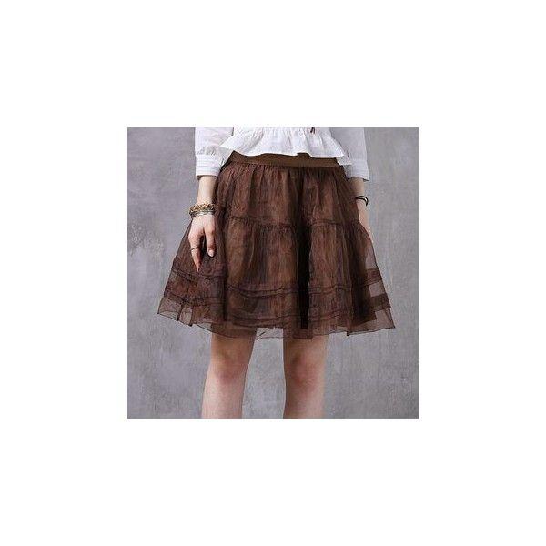 Mesh Tulle Skirt ($37) ❤ liked on Polyvore featuring skirts, women, long brown skirt, mesh skirt, long tulle skirt, tulle skirt and mesh maxi skirt