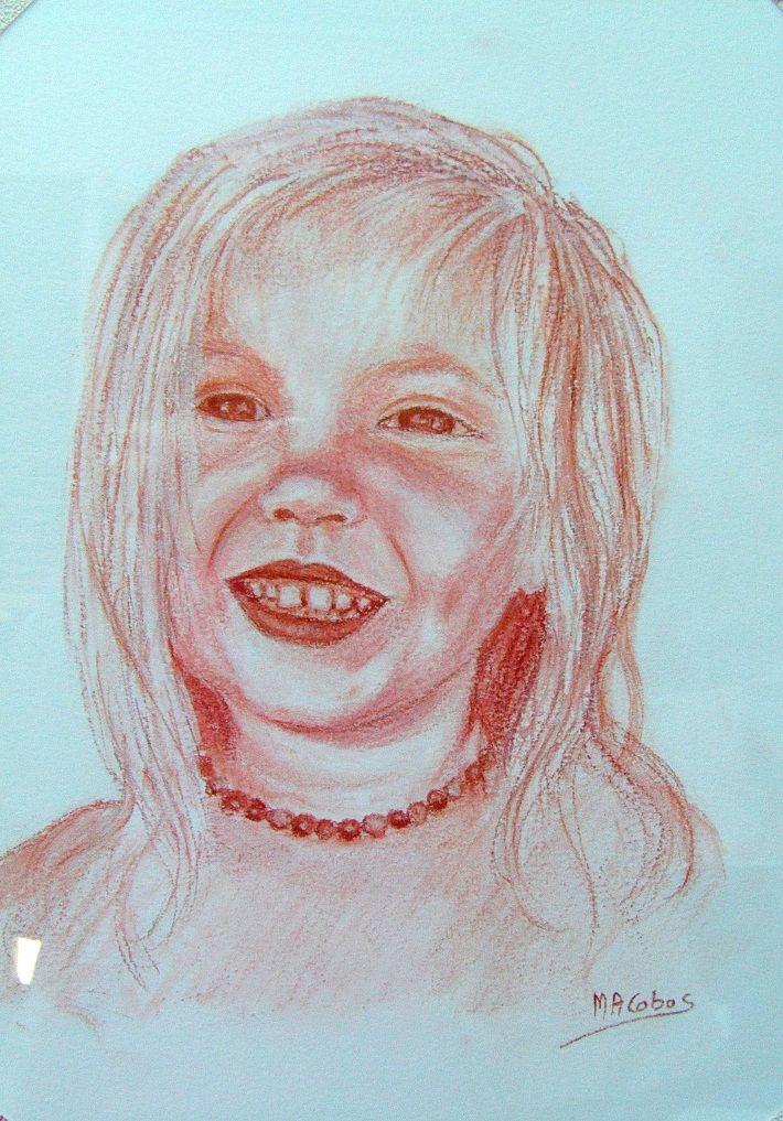 Sanguine- Portrait d'après photo