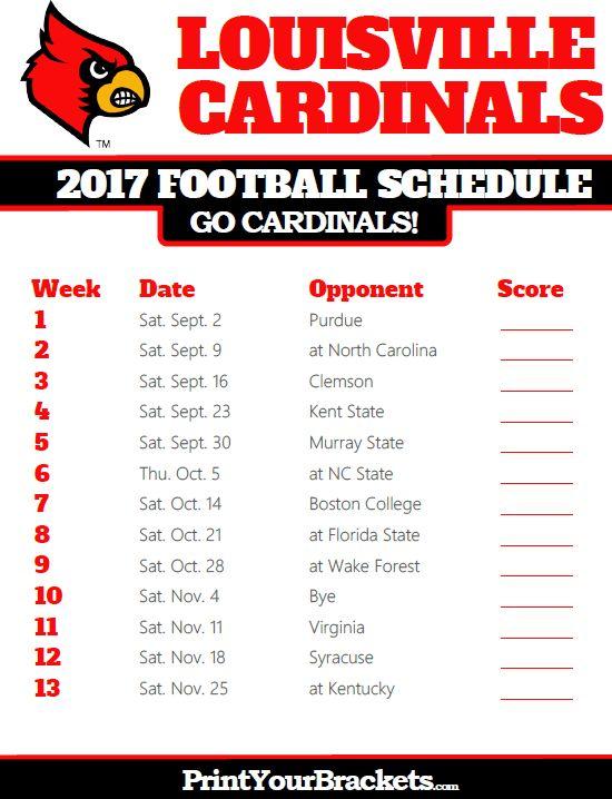 2017 Louisville Cardinals Football Schedule