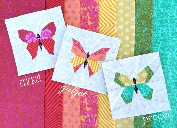 Butterfly Charm Blocks   Free Paper Piecing Pattern by lillyella stitchery