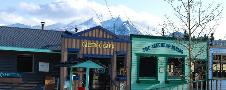 Caribou Cafe -Caribou Crossing, Yukon--we stopped here for lunch & rode a sled pulled by an Alaskan Husky team
