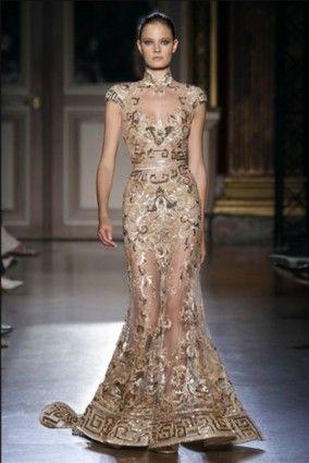 Zuhair Murad Gold Mermaid Wedding Dresses 2012