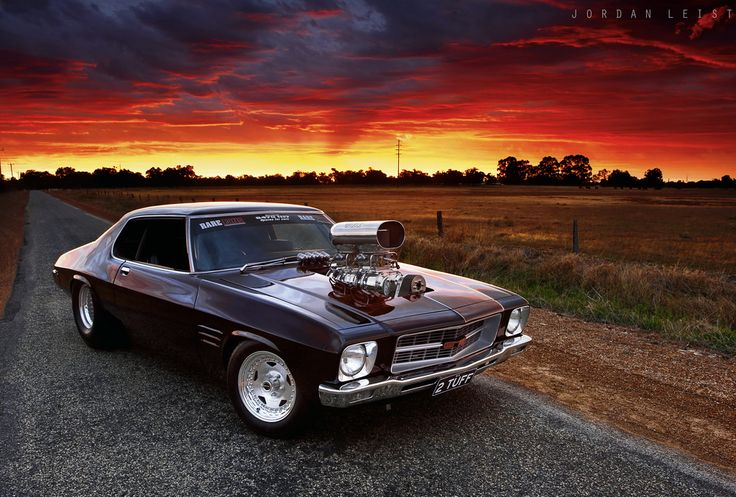 same car used in Mad Max that the Night Rider drives... Supercharged Holden HQ…