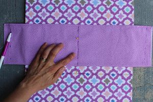 Sew a fabric binder that folds into an