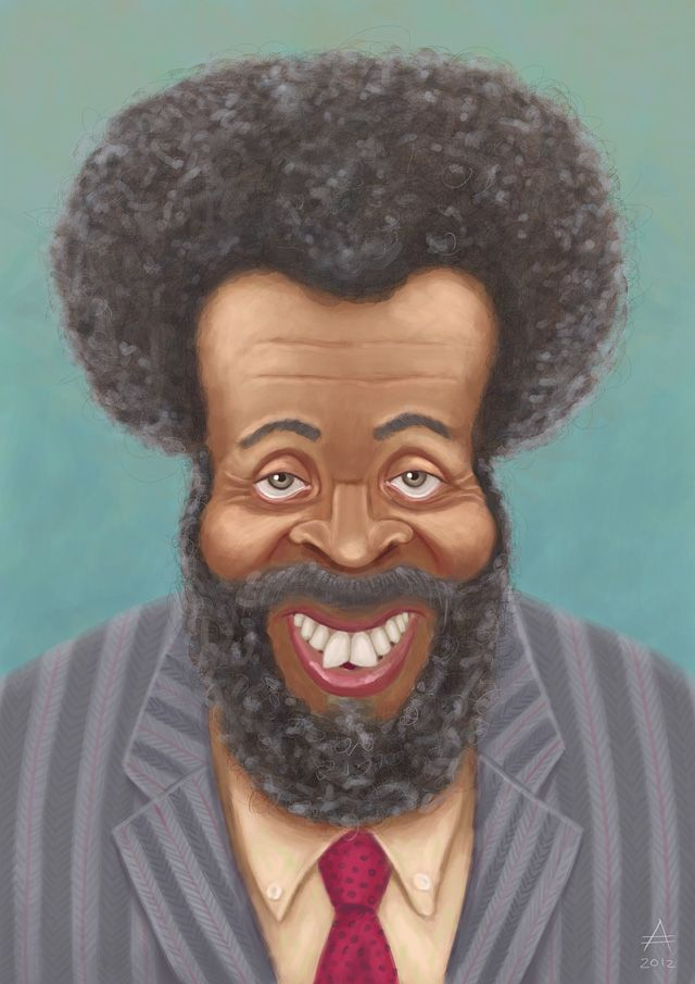 """Whitman Mayo as """"Grady Wilson"""" from """"Sanford and Son.""""  (by Andrea Austoni)"""