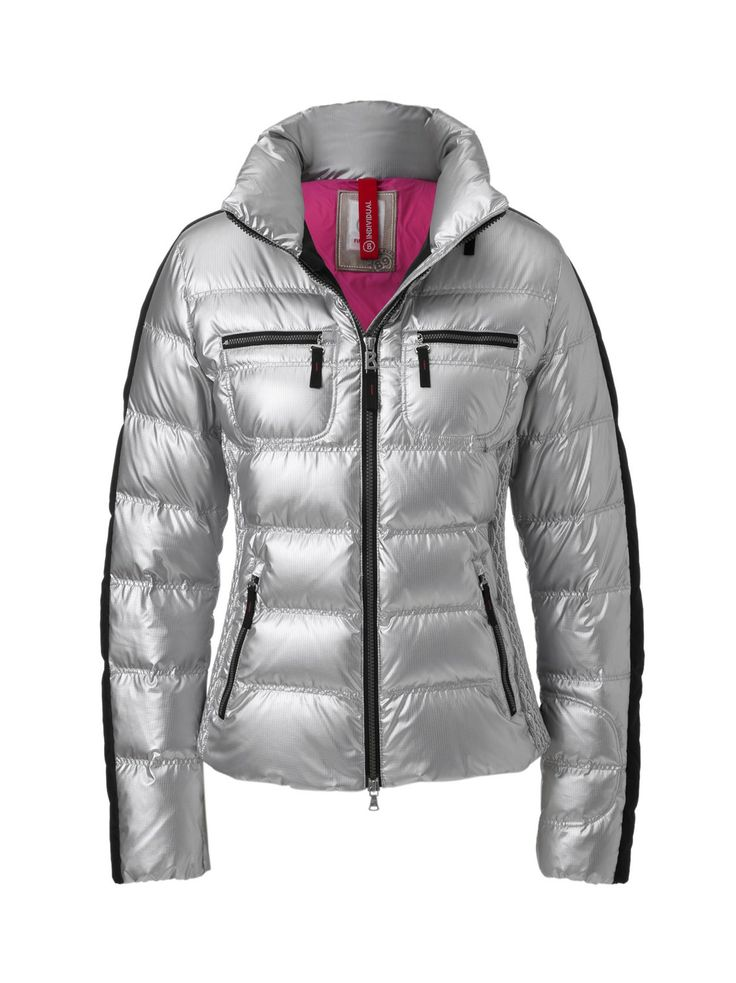 bogner fire ice leony d down jacket shiny silver pinterest. Black Bedroom Furniture Sets. Home Design Ideas