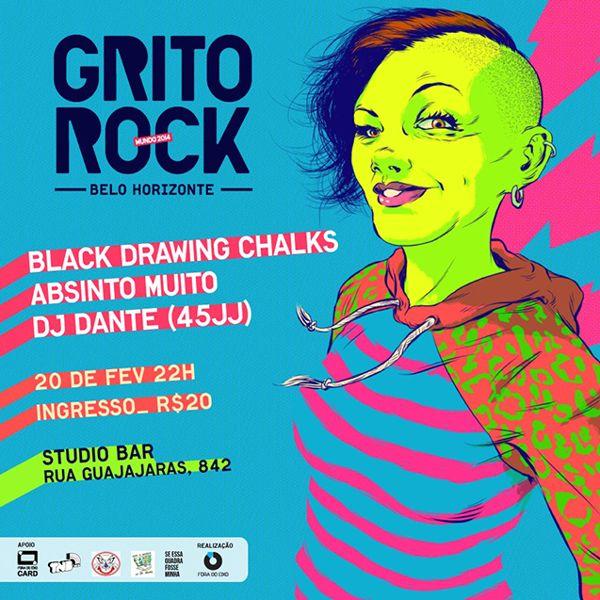Grito Rock BH - 2014 by Rafael Pereira, via Behance