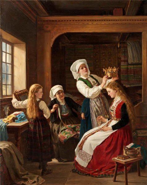 Adolph Tidemand (1814–1876): Bride Decoration