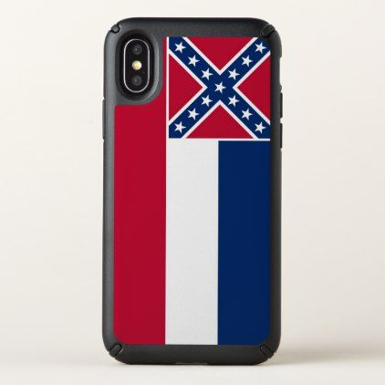 Speck Presidio iPhone X Case with Mississippi flag - stylish gifts unique cool diy customize
