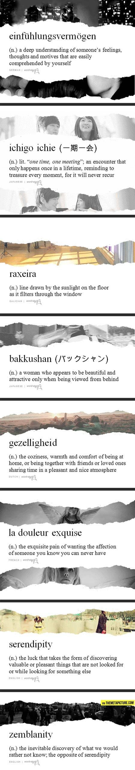 Very unusual words and their meaning...