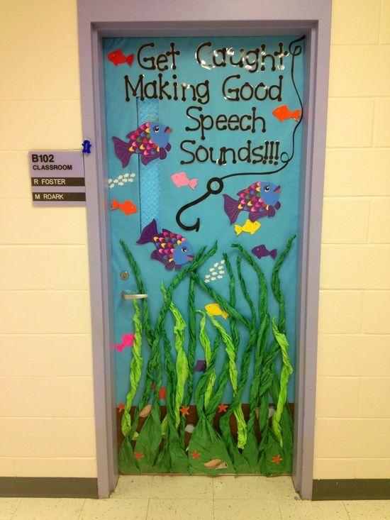 Get Caught Making Good Speech Sounds Door Decoration