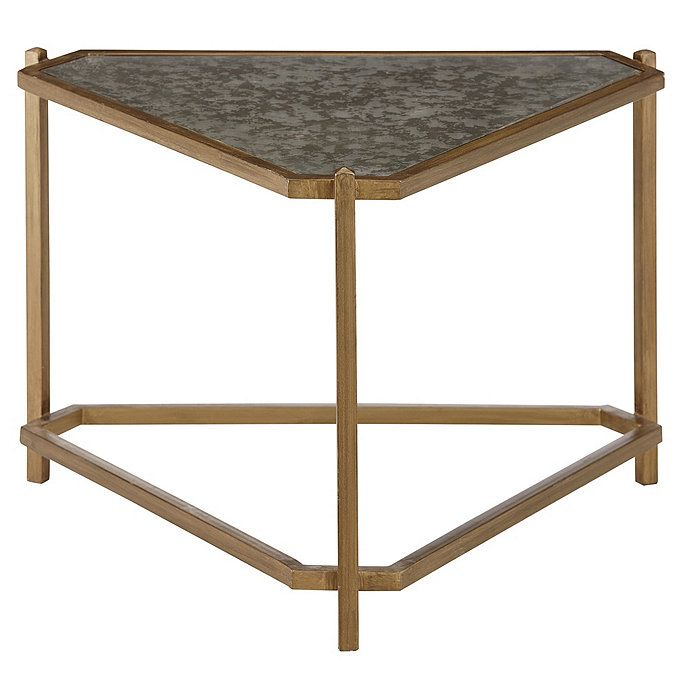Kendall Triangle Side Table In 2020 Glass Side Tables Living Room Side Table Side Table #triangle #end #tables #for #living #room