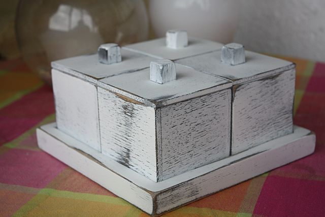 small oak box vintage finishing