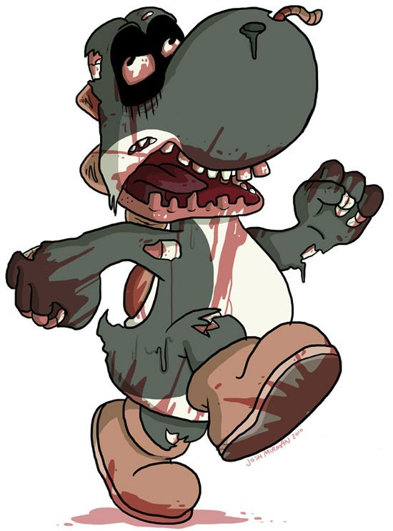 zombie drawings | ... , Sonic, Yoshi and more recreated as horrible Zombies | GamersMint