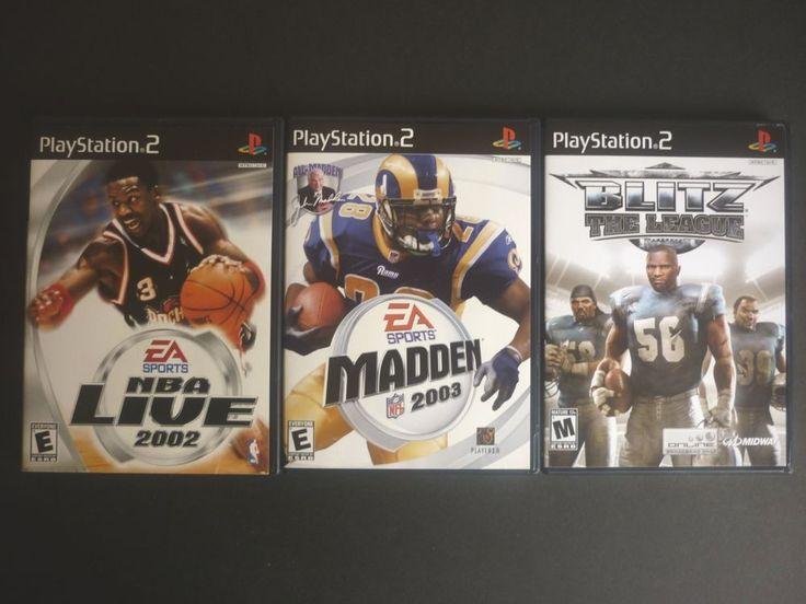Playstation2 Sports Bundle - Madden NFL 2003, NBA Live 2002, Blitz The League