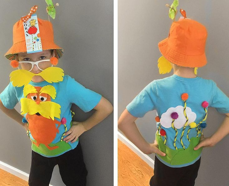 Dr. Seuss Birthday, Lorax Shirt, Lorax Costume  •  www.theCreativeOrchard.com  (@thecreativeorchard)