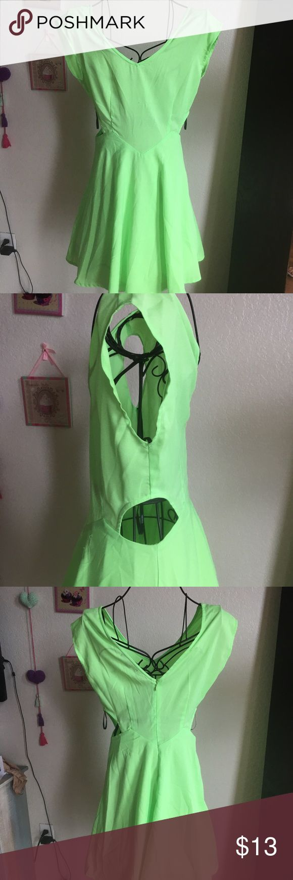 Forever 21 Dress Forever 21 Neon Green Dress Forever 21 Dresses Mini