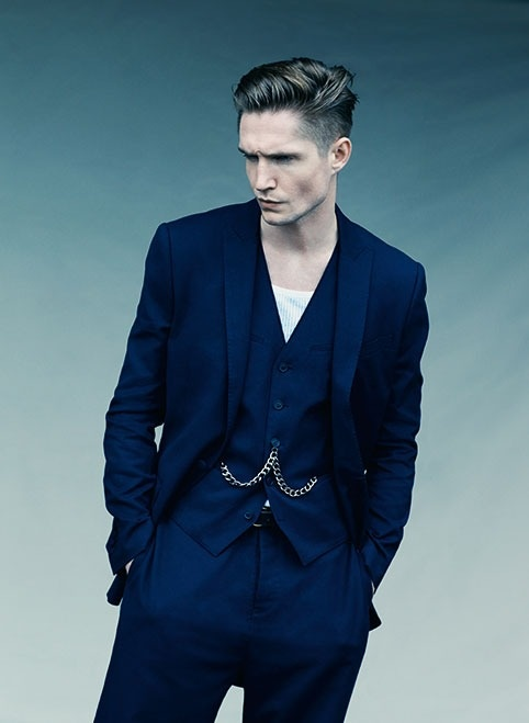 Cotton Canvas Single-Breasted Jacket #ss13 #navy #farrell
