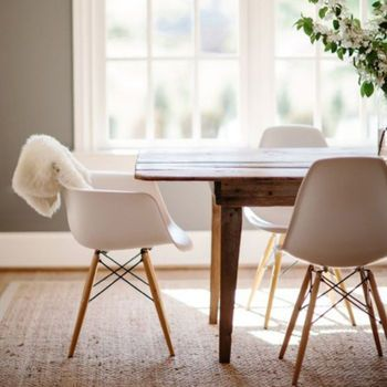 Winter Luxe Neutrals Pair Dining Chairs