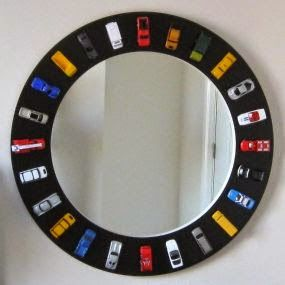 Hot Wheels Racing League: Hot Wheels DIY Mirror Hot Wheels around the mirror...cool. #hotwheels #mirror
