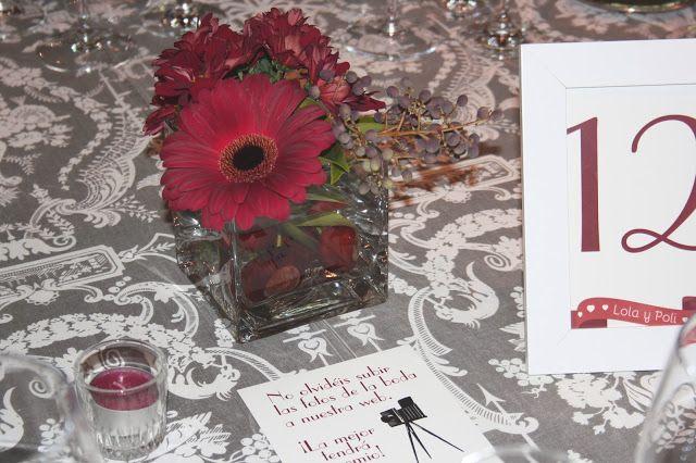 Blog de Organización de Bodas - Wedding Planner Madrid - Boda Granate - Centro de Mesa
