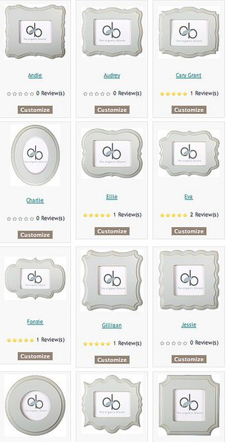 The Organic Bloom picture frames.