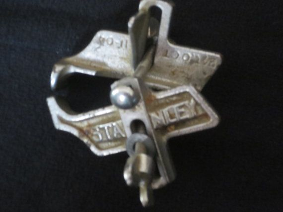 Antique Stanley Bit Chrome Plated Boring Depth by GoGoGrannys, $25.00