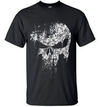2017 streetwear Punisher Skull hip hop Supper Hero t shirt harajuku Men short sleeve T-Shirt brand cotton clothing crossfit tops //Price: $US $6.02 & FREE Shipping //