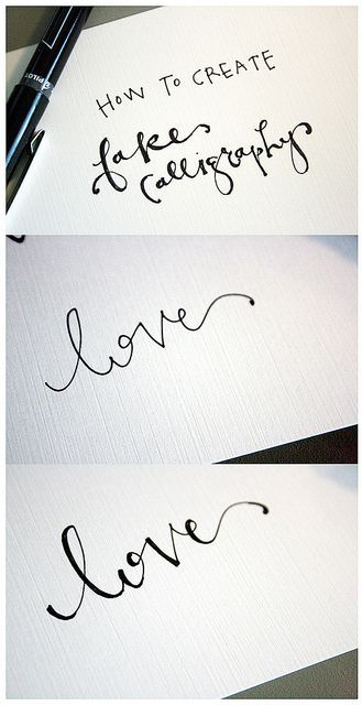 how to create fake calligraphy- this is life-changing!