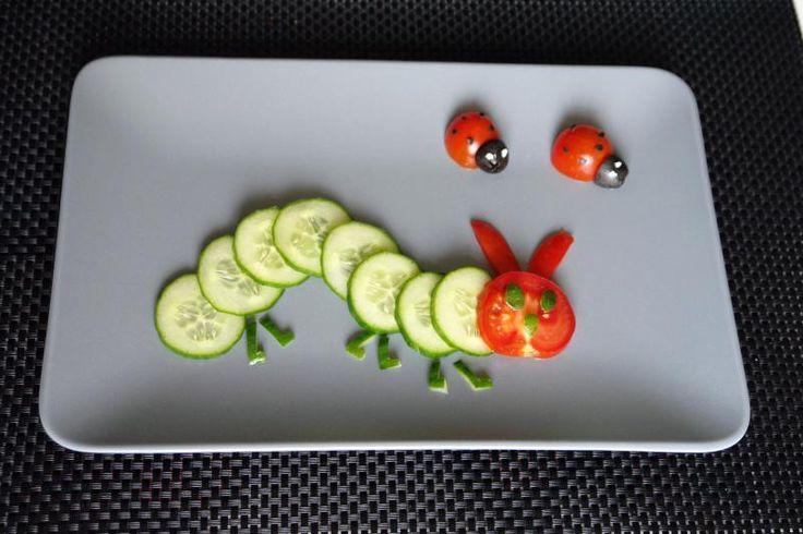Gurkenraupe und Tomaten-Marienkäfer