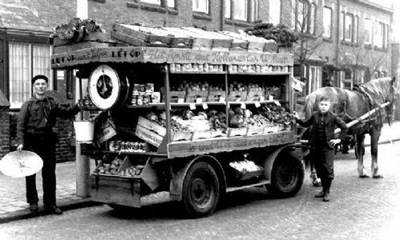 De groenteboer in de jaren 50