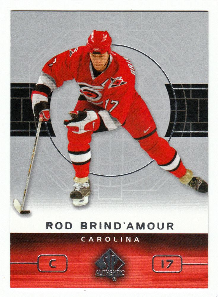 Rod Brind'Amour # 15 - 2002-03 Upper Deck SP Authentic Hockey