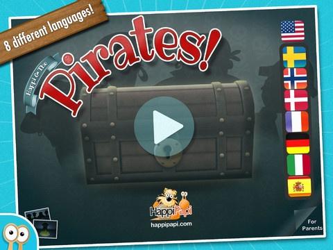 Happi pirates ligner lidt ordtyven. Du skal nå at sætte ord ind i en kryds og tværs, samle brikker til et skattekort og finde skatten. Det koster 18,- og kan hentes til iPad