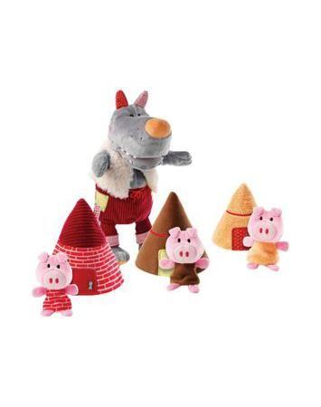 LILLIPUTIENS Игрушки для малышей  — 4440р. --------------------- Волк (кукла-марионетка) и три поросёнка (пальчиковые куклы). Идеальный комплект для постановки известной сказки. Возраст: от 9 месяцев.