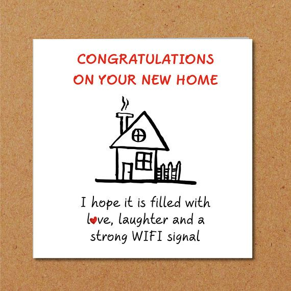 New Home Congratulations Card Buy House Housewarming Friends