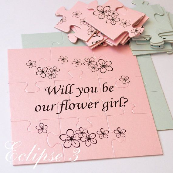 Will You Be Our Flower girl Will You Be My by BoutiqueEclipse