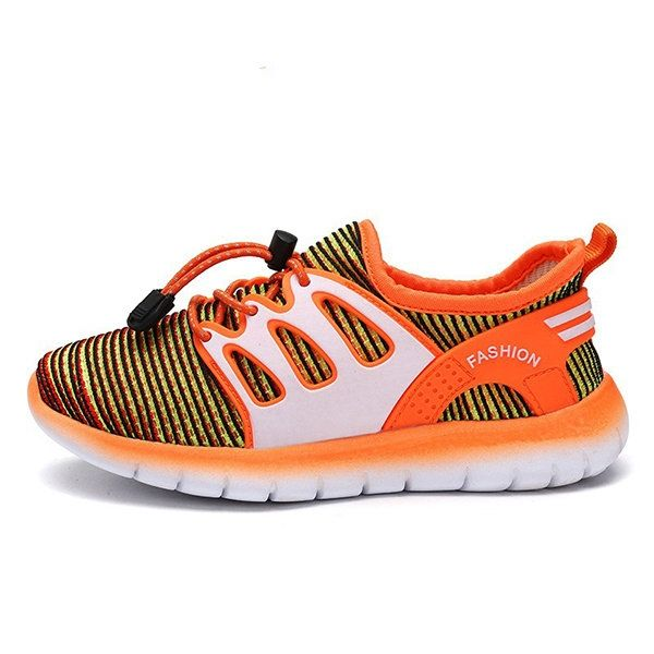 d0d3124fe55c6 US$24.20 - Unisex Kids Gradient Color Adjustable Breathable Knitted Fabric  Sport Shoes