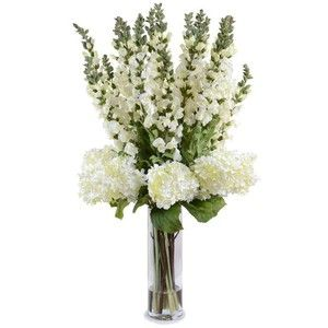 New Growth Designs Hydrangea And Snap Pea Faux Flowers - Snap dragons for a different look!
