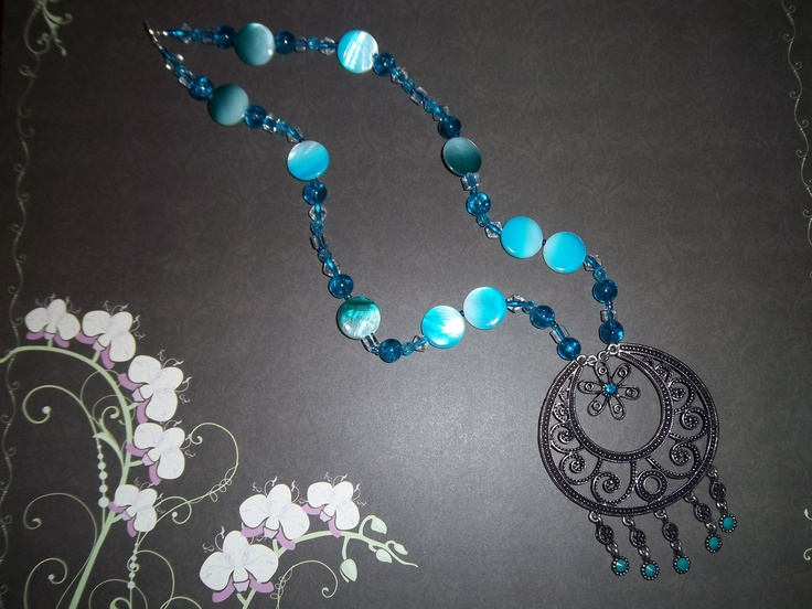 This fun necklace is a great way to add colour to an outfit for work or a night out. See the matching earrings