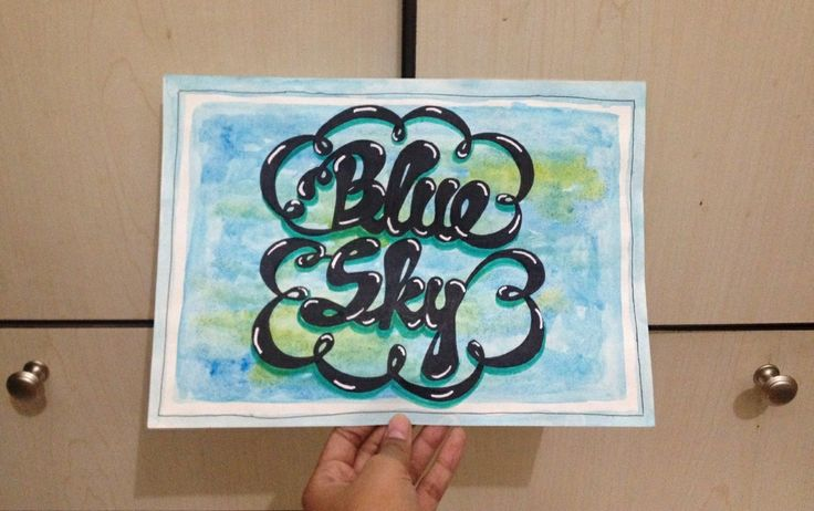Blue sky, eh? #handlettering #typography #doodles