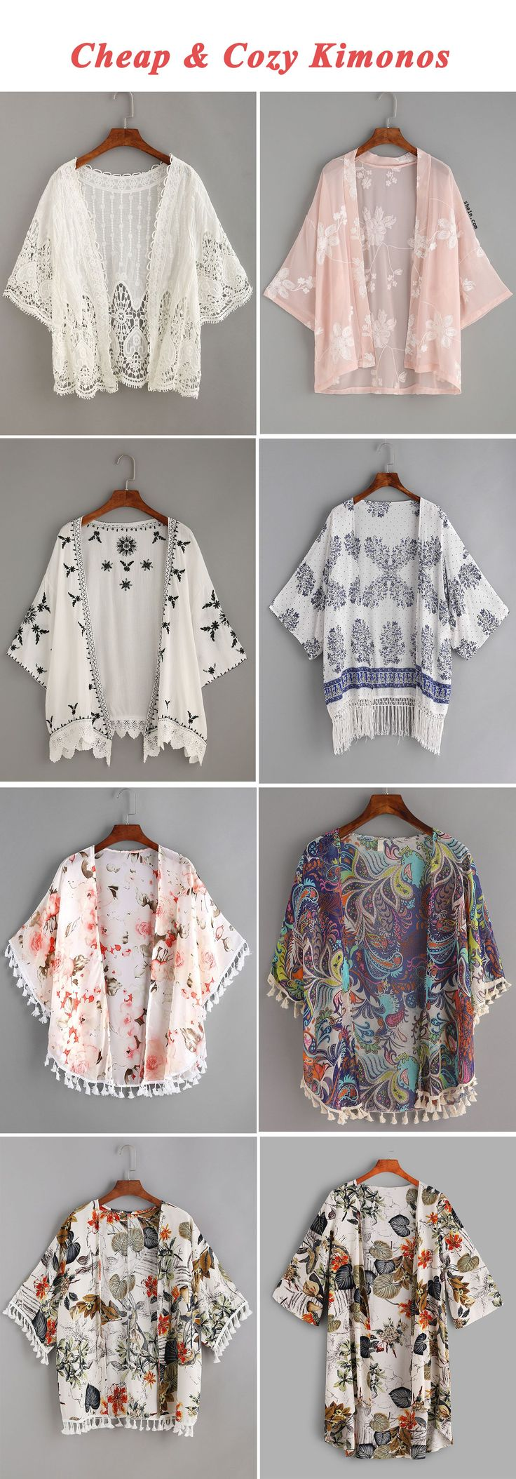 Cheap & cozy kimonos